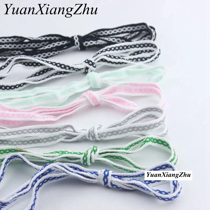 1Pair Fashion Flat Floral colorful laces 8 mm wide Flat Lace Sports  Running ShoeLace  men women lace 80cm /100cm /120cm HW-11Pair Fashion Flat Floral colorful laces 8 mm wide Flat Lace Sports  Running ShoeLace  men women lace 80cm /100cm /120cm HW-1