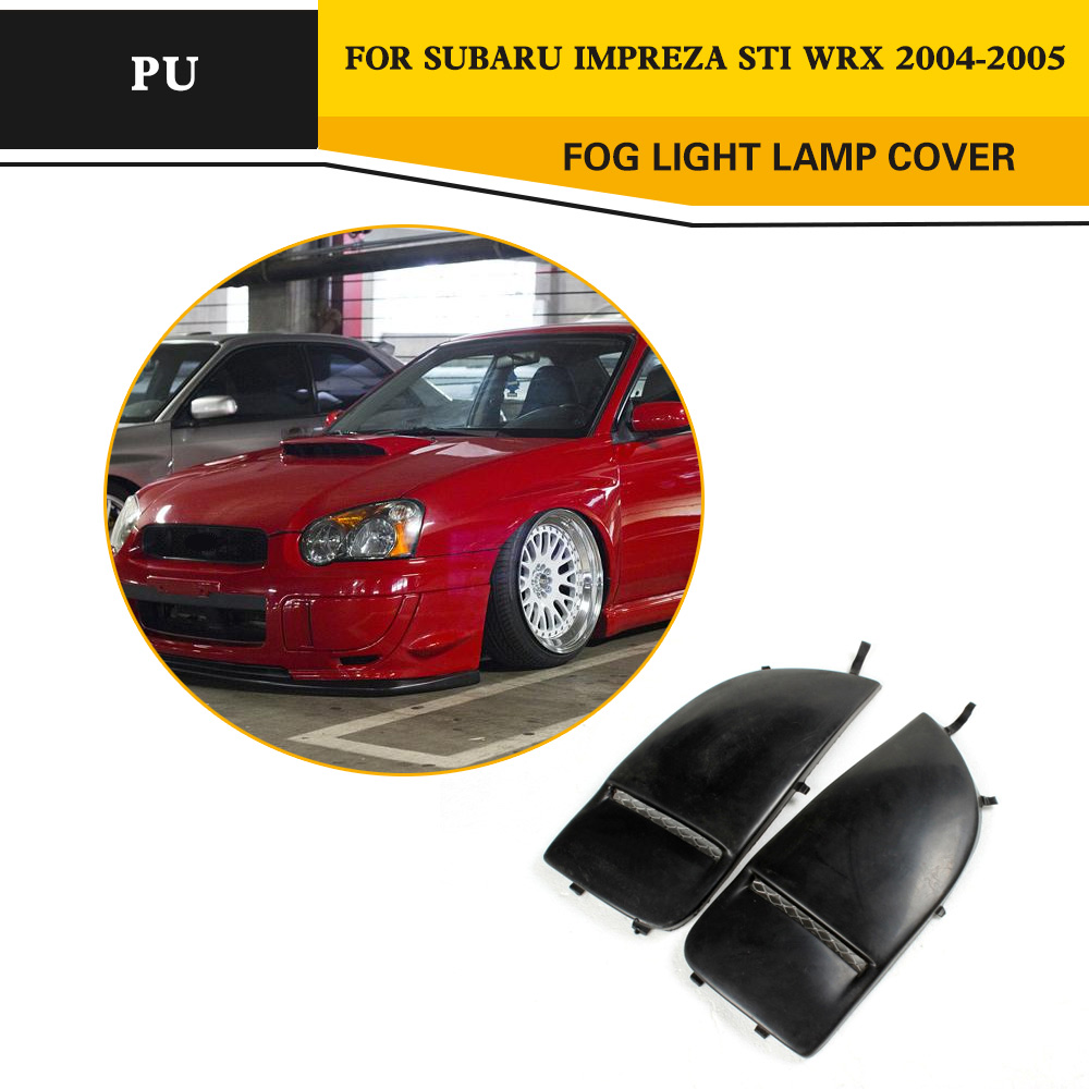 Lamp Mask Cover For <font><b>Subaru</b></font> <font><b>Impreza</b></font> <font><b>STI</b></font> <font><b>WRX</b></font> <font><b>2004</b></font> 2005 Full Replacement Black PU Fog Light Trim Protection image