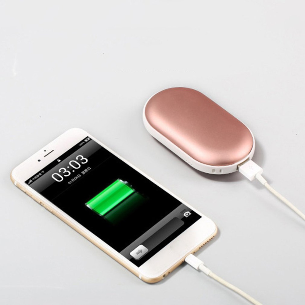 2 In 1 Cute USB Rechargeable Hand Warmer And 4000ma Power Bank 5V Mini Portable Travel Handy Long-Life Pocket Hand Warmer