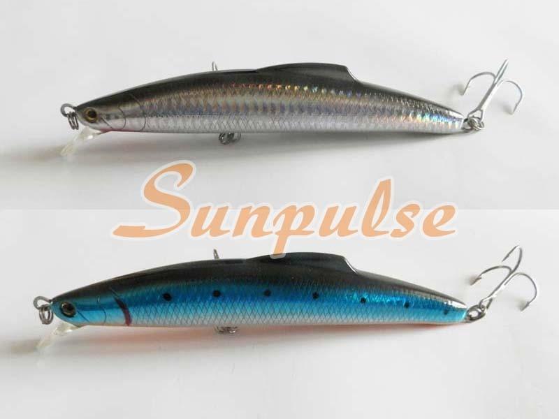 16cm 60g Fishing Lure Sea Tackle Hard Plastic False Bait Deep Swim Bait China Hook Sinking type
