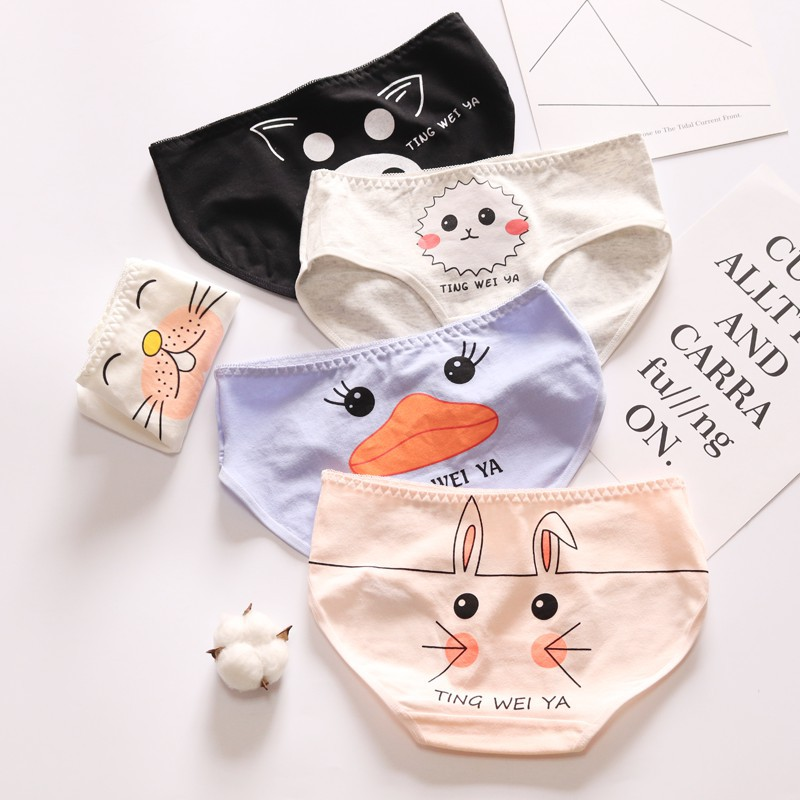 ZQTWT New Panties For Women Underwear Cotton Female Briefs Rabbit Duck New Cute Ladies Panties Breathable Lingerie