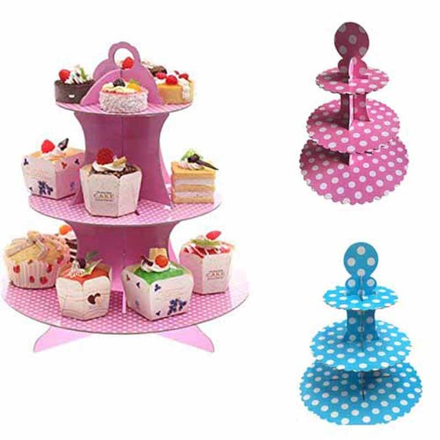 Cupcake Display Stand Holder Dessert Tower Girl Boy Kid Birthday Baby Shower Christmas Party Wedding New