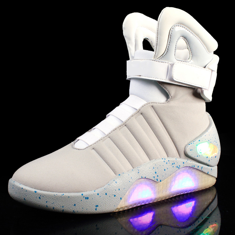 df22766f2425ae Παιδιά   παπούτσια του s Adults USB Charging Led Luminous Shoes For Men s  Fashion Light Up Casual Men back to the Future Glowing Sneakers Free  shipping