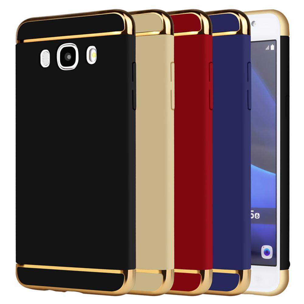 Case For Samsung Galaxy J5 2016 J510 J510F Gold Matte Full Protective Shockproof Cover Brand For Samsung J5 2016 Prime