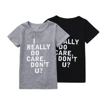 2018 Kids Cotton T-shirts Mother&Me Baby Gilrs Boys Letter Print Tops Shirt Family Matching Blouse Clothes kids Clothes(China)