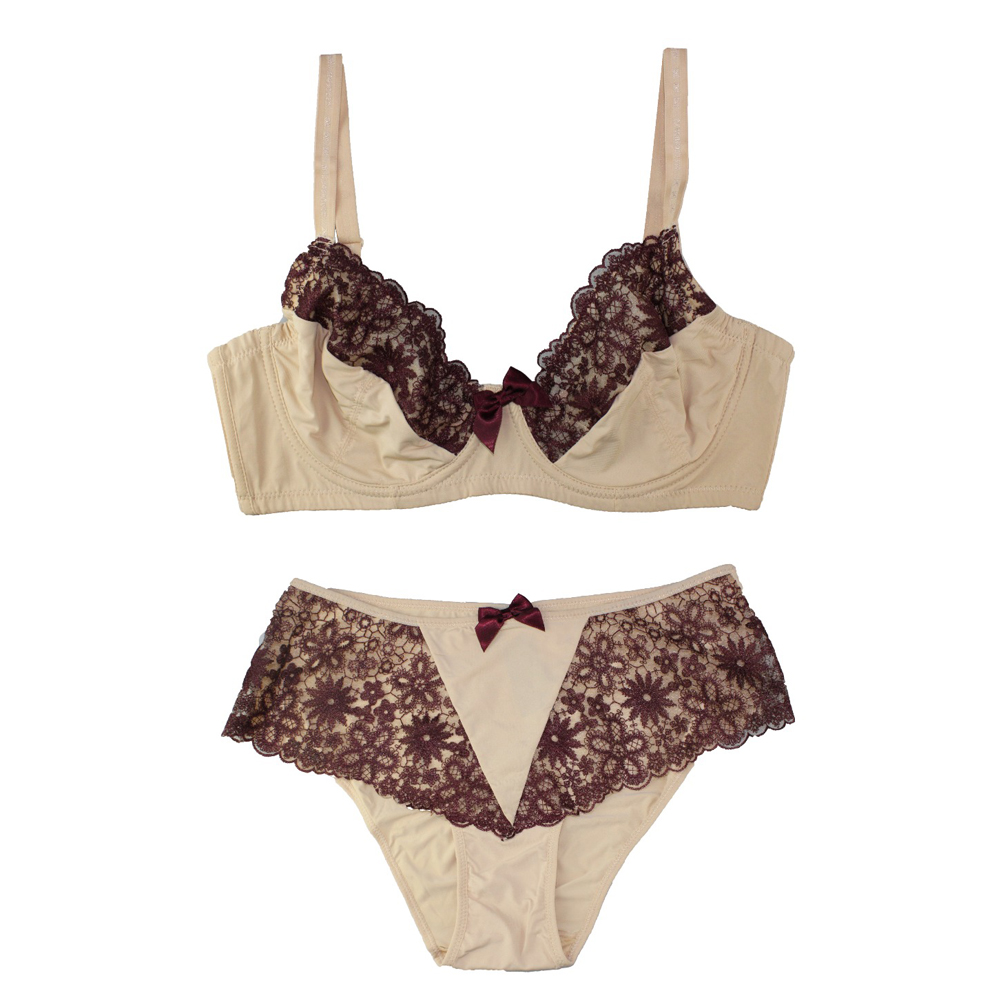 Mierside Many Styles Lace Lingerie Decorative Bow Female Underwear   Bras   and matching pants Push Up   Bra     Set   32-44 B/C/D/DD