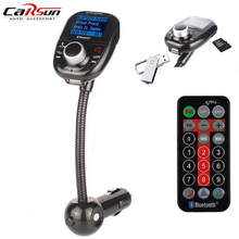 цена на Car Bluetooth MP3 Audio Player FM Transmitter Wireless FM Modulator Car Kit With LCD Display And Remote Controller Auto USB SD