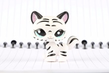 New Pet Collection Figure 1498 Black White Striped Cat Kitty Child Loose Cute font b Toys