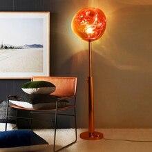 Nordic LED Floor Lamp glass shade Lava Loft Glass Lights Bedroom Living Room Hotel Standing Lighting Fixtures lustre