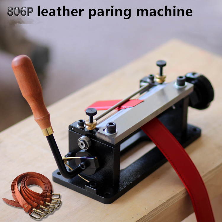 806P Leather Thinner Belt Peeling Machine Shovel Leather Cutting Machine  Leather Paring Machine High Quality