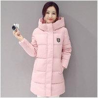 Fashion Down jacket woman hooded coats white pink Thicken warm winter snow long womens jackets overcoat women coat plus size