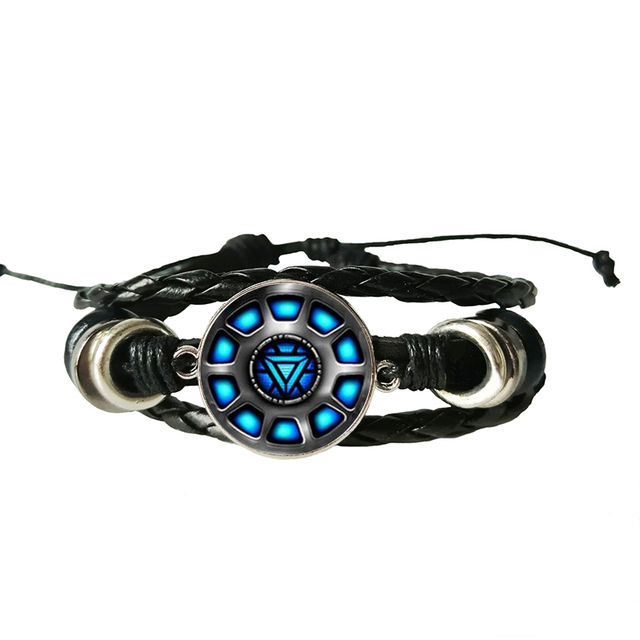 TONY STRAK ARC REACTOR LEATHER BRACELET
