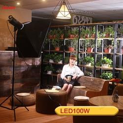 100W Solar lamp LED photographic light video camera lamp Lighting Spotlight Studio Portrait children movie Light CD50 T07