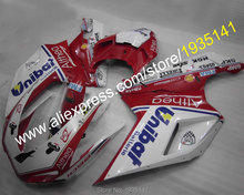 Hot Sales,Free customized motorbike aftermarket kit For Ducati 1098S 848 1198 07 08 09 10 11 Fairing set (Injection molding)