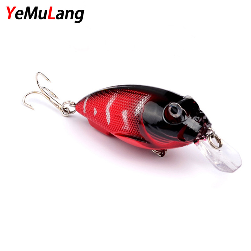 YeMuLang Artificial 1PCS Minnow Fishing Lures 7CM 9.6G Wobbler Fly Fishing Hard Bait For Fishing Carp Crankbait 1pcs 15 5cm 15 3g big minnow crankbait wobbler fly tying fishing lure peche bass trolling artificial bait pike carp lures zb252