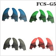 FCS G5 Quilhas Fins Surfboard Fin Honeycomb Fibreglass 4 color