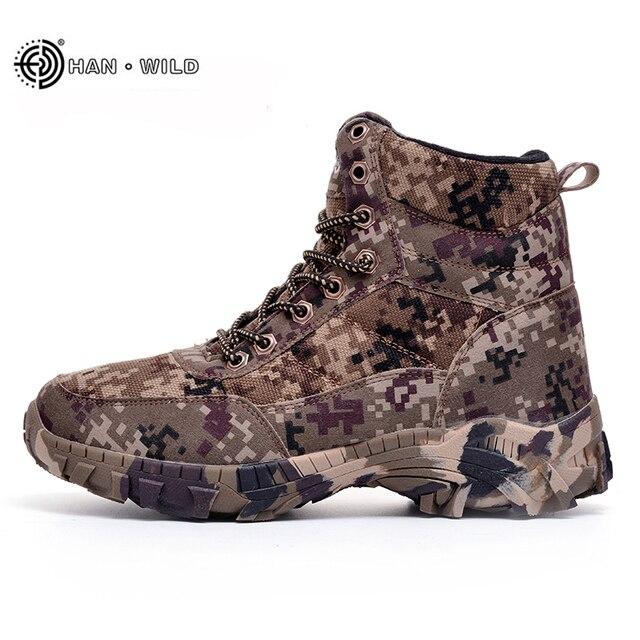 Männer Kampfstiefel Armee Stiefel Winter Camouflage Warme Wolle Schuhe  Herren Taktische Militärische Stiefel Größe 39- 5abbcfaf38