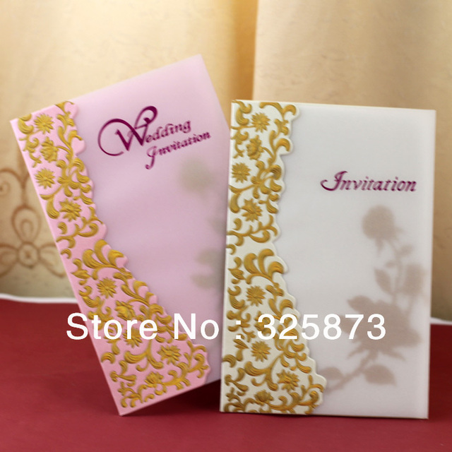 2017 Beautiful Rose Flower High Quality Paper Quilling Wedding Cards Invitation Guarantee With Low Price