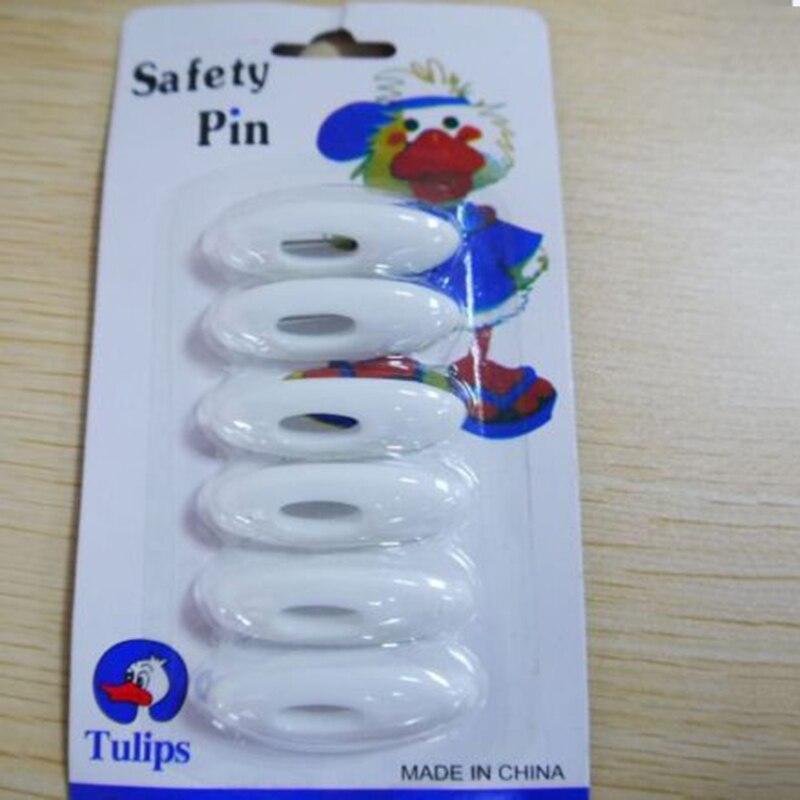 6PCS Rhinestone Plastic Scarf Pins Muslim Hijab Safety Pin Fashion Mutil-color