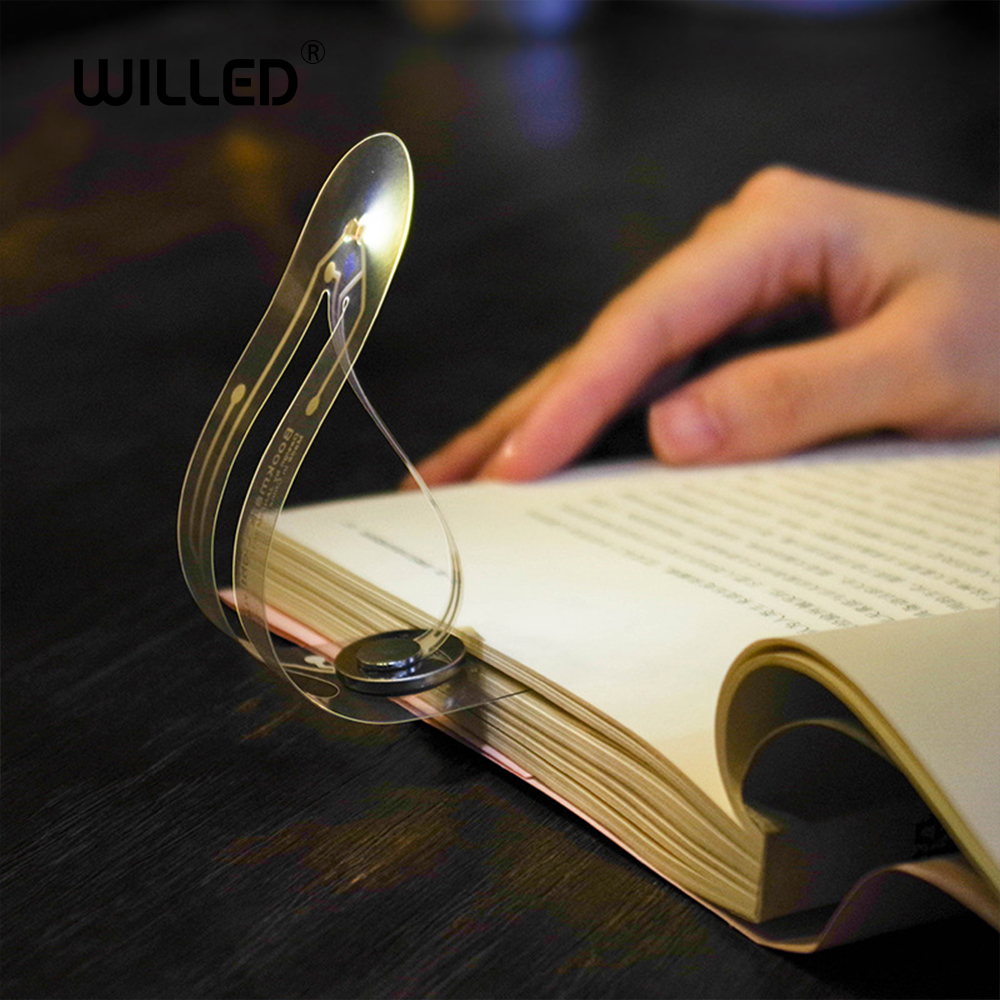 Led Light Bookmark Reading Lamp Creative Mini For Book Portable Small Night Light Novelty Card Flashlight