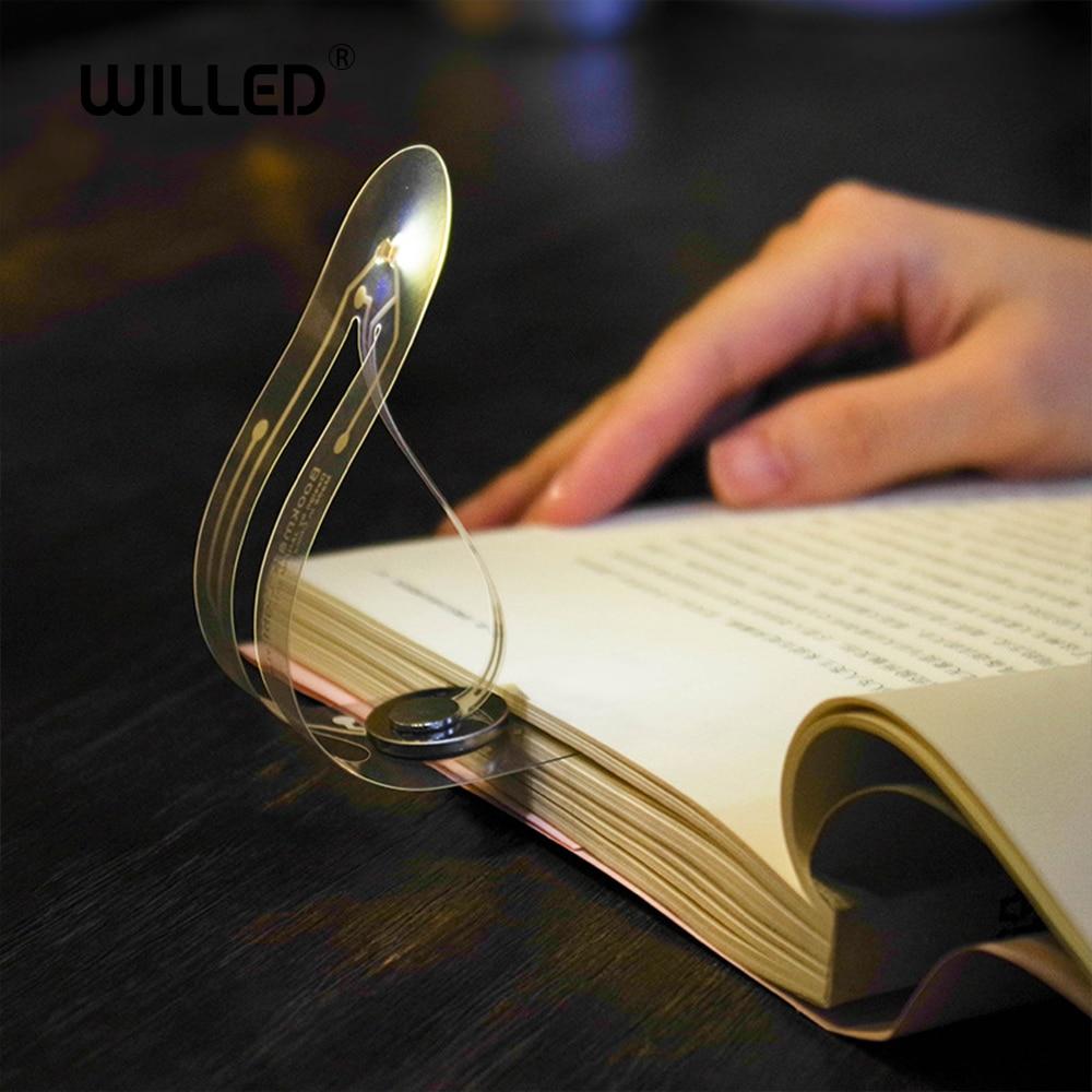 Led Light Bookmark Reading Lamp Creative Mini For Book Portable Small Night Light Novelty Card Flashlight