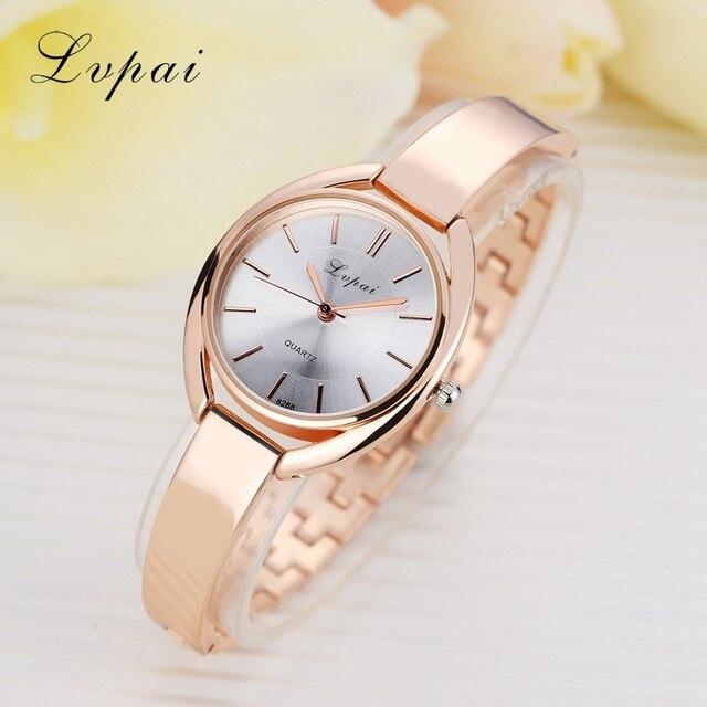 Bracelet Watches Fashion Women Dress Wristwatch Ladies Quartz Sport Rose Gold Watch