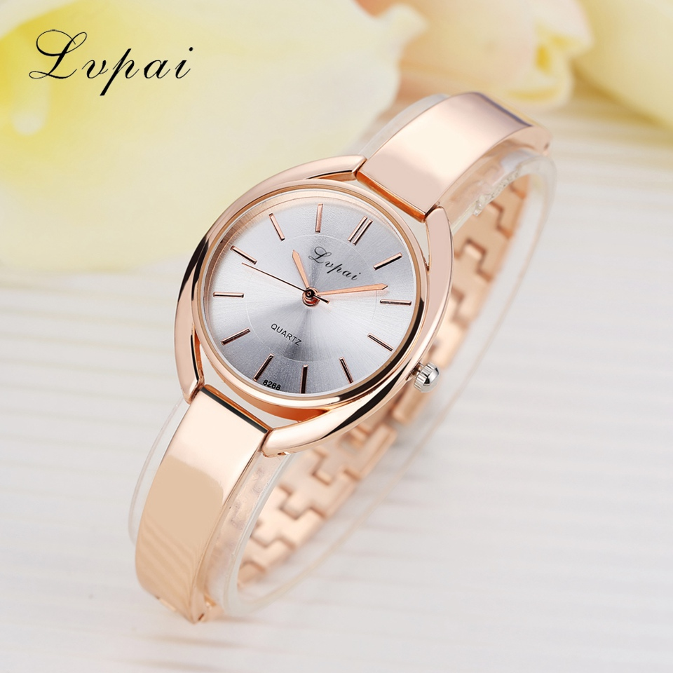 Women Bracelet Watches Women Dress Wristwatch Ladies Quartz Sport Rose Gold Watch Dropshiping LP025
