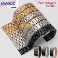 UYOUNG HUAWEI B2 B3 умный браслет часы ремешок сталь ремешок для часов замена нержавеющей стали смотреть с 15 16 ММ