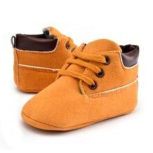 Новорожденных Для маленьких мальчиков обувь первые ходоки одноцветное малыша обувь кроссовки для мальчиков Мокасины детская обувь