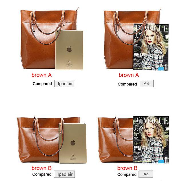 fashion women handbag genuine leather shoulder bag ladies larger totes real leather Sacthel girl Cowhide Purse