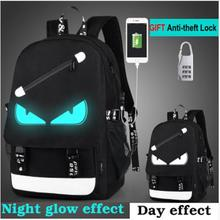 Cartoon Backpack Boys School Backpack Student Luminous Anima