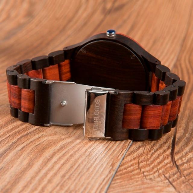 Reloj clásico madera hombre pulso madera 4