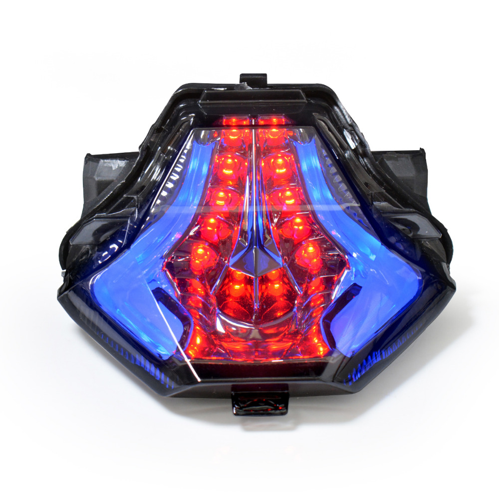 KT Motorcycle Tail Light Turn Signals Brake Light for Yamaha YZF R3 R25 2015 2016  Motorbike Rear Light Blue aftermarket free shipping motorcycle parts led tail brake light turn signals for yamaha yzf r1 yzf r1 2004 2005 2006 smoke