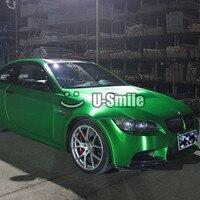 Премиум Матовый Хром зеленый винил обёрточная бумага Bubble Free для автомобиля графический