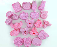 21pcs Set 3D Cookie Cutters Cake Molds Onigiri Moulds DIY Baking Tools Food Grade ABS Lovely