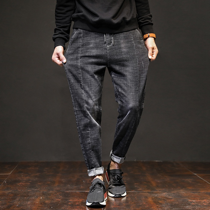 Spring Harem Pants Men's Jeans Trend Was Thin Youth Fashion Pants Male Big Size Long Pants 7XL 6XL