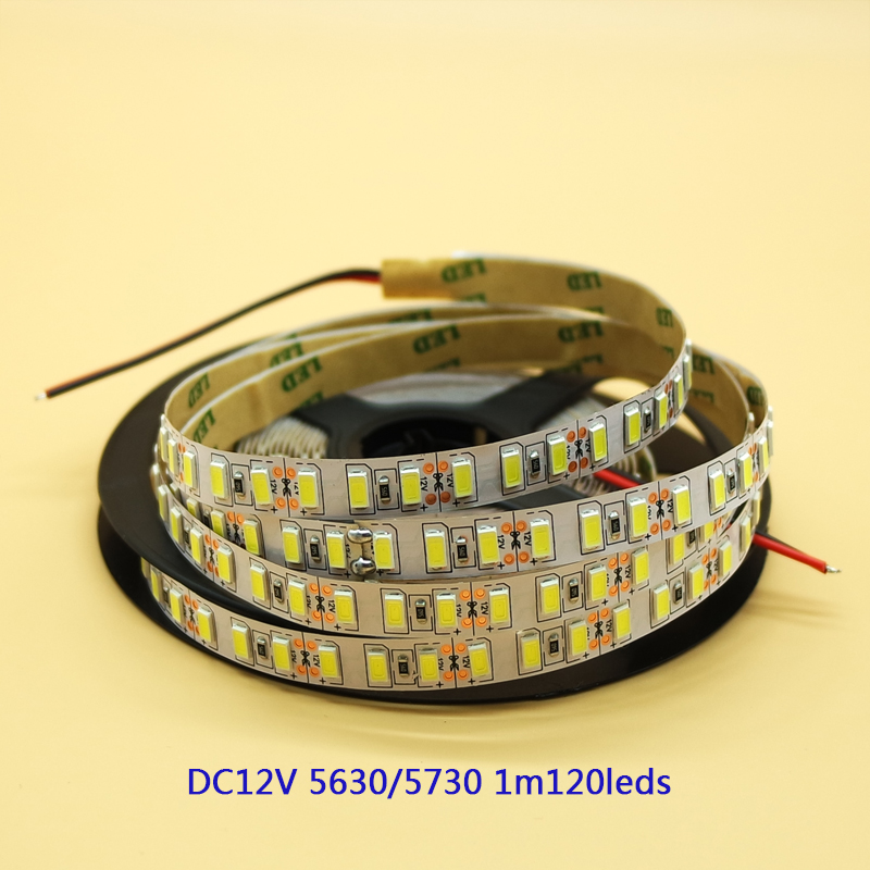 Super Bright SMD 5730 LED strip light DC 12V Waterproof non/ip65 60leds/m bright than 5630/5050/3528 Fita Diode tape lamp White super bright 120leds m smd 5630 5730 led strip light flexible 5m 600 led tape dc 12v non waterproof tape lamp