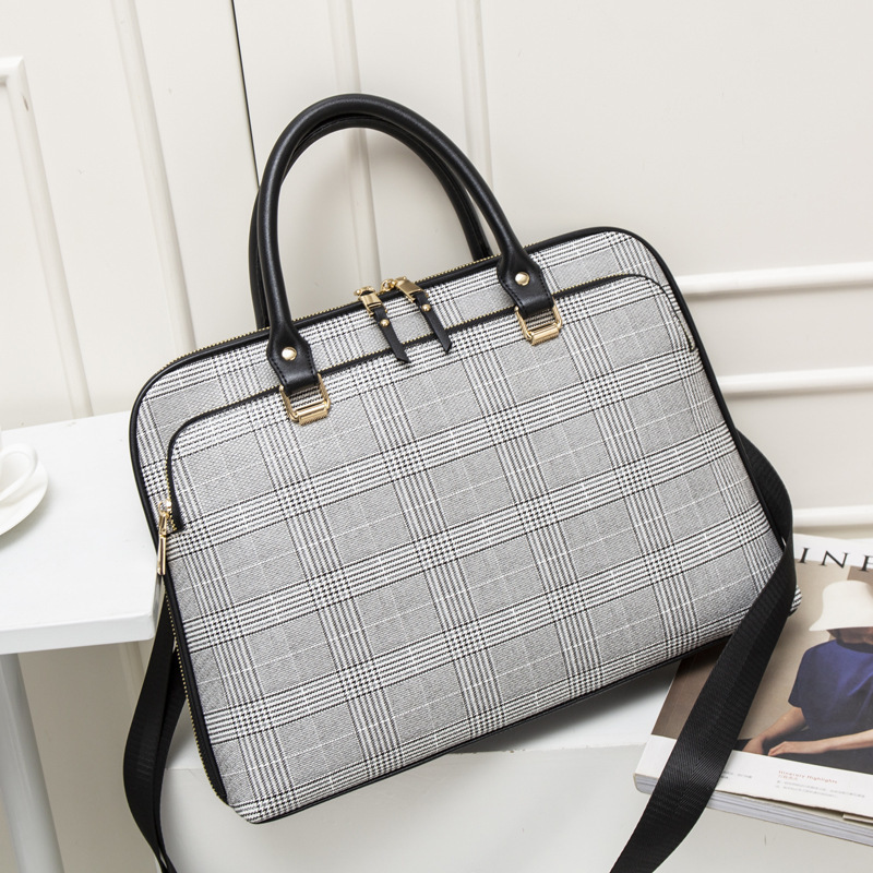 Women Laptops Handbag Work Office Bag Lady Crossbody Bags Women Briefcase Bag Business Handbags Computer 14Inch For Dell Sony HP