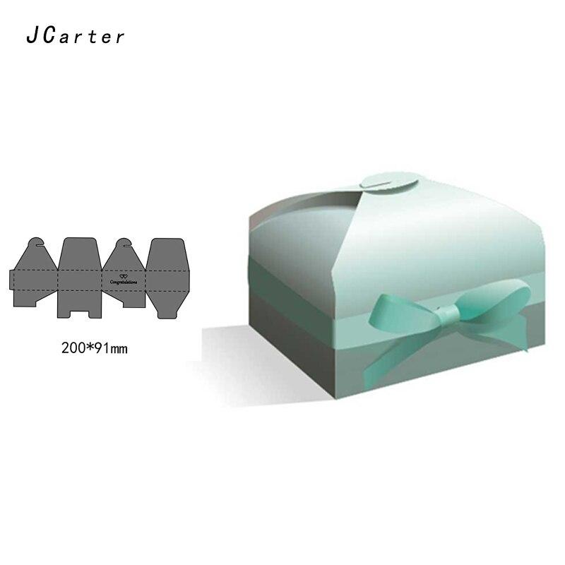 JC 2019 Metal Cutting Dies Craft 3D Cut Die Stencil Beautiful Gift Box Scrapbook DIY Handmade Album Paper Cards Decor Craft Dies in Cutting Dies from Home Garden