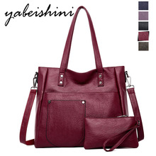 Sac a main ladies bag luxury handbags designer shoulder high quality leather handbag wallet two-piece