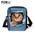 De moda Del Gatito del Gato Imprime Las Mujeres Messenger Bags, Ladies 3D Mini Perro Pug Bolso Crossbody de Las Niñas, de Viaje Mujer causales Bolsos de Hombro