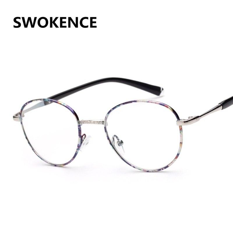 Liga de alta Qualidade Retro Designer Rodada Sem Dioptria Óculos Frame  Ótico Armações de Óculos de Prescrição Miopia Presbiopia F122 5adaac5b74