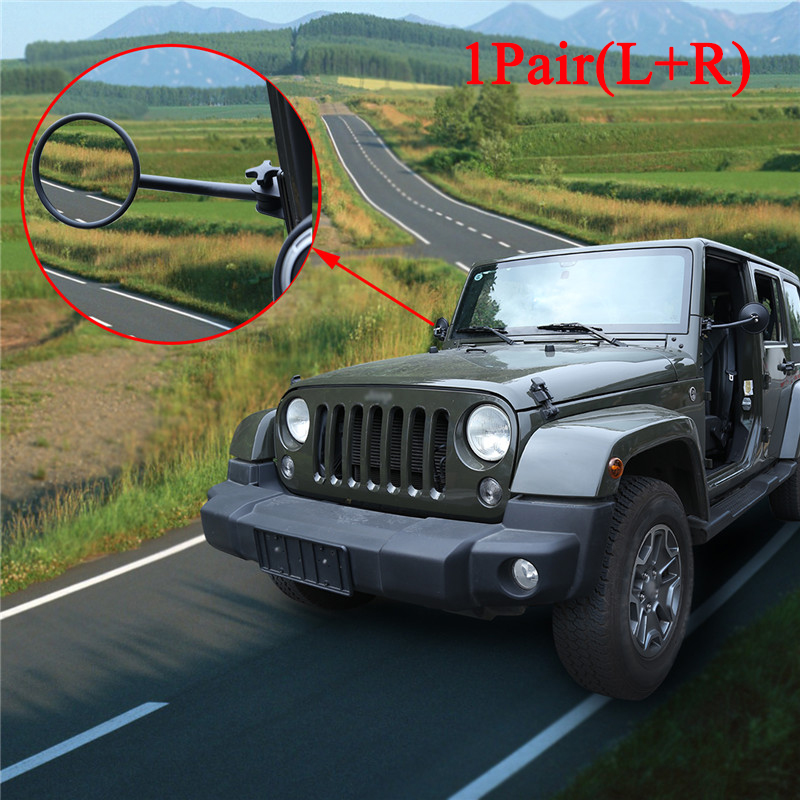 5.5 Round Trail Mirror PAIR Quick Release For Jeep Wrangler JK 2007-2018 For Jeep Wrangler YJ TJ CJ-7 CJ-8 Rearview Mirrors the cj cup nine bridges 2nd round