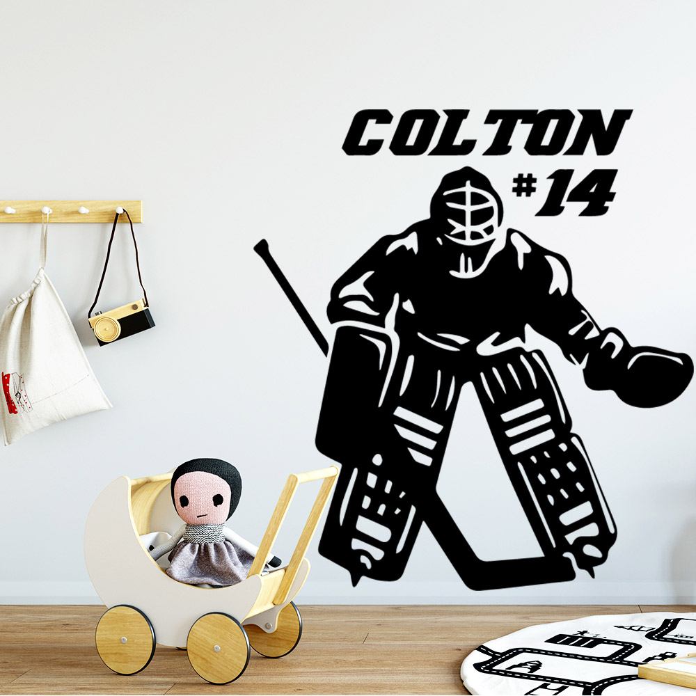 Artistic play ice hockey Wall Sticker Pvc Art Mural Wallpaper Decor Living Room Bedroom Removable Decal naklejki