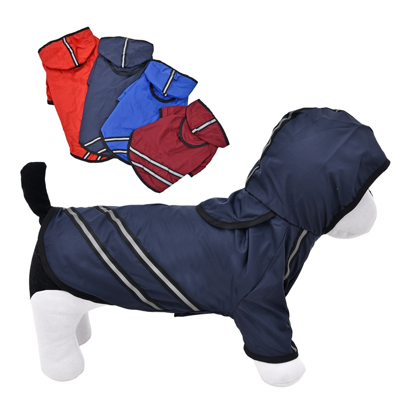 Hot Sale Dog Clothes Dog Raincoat Pet Clothing Apparel Pet Clothes Reflective Puppy Waterproof Coat Dog Jacket Dog T-Shirt