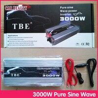 Автомобиль Мощность инвертор 3000 Вт DC 12 В AC 220 В чистая синусоида USB автомобильный преобразователь 3000 Вт с сетка солнечный Мощность инвертор