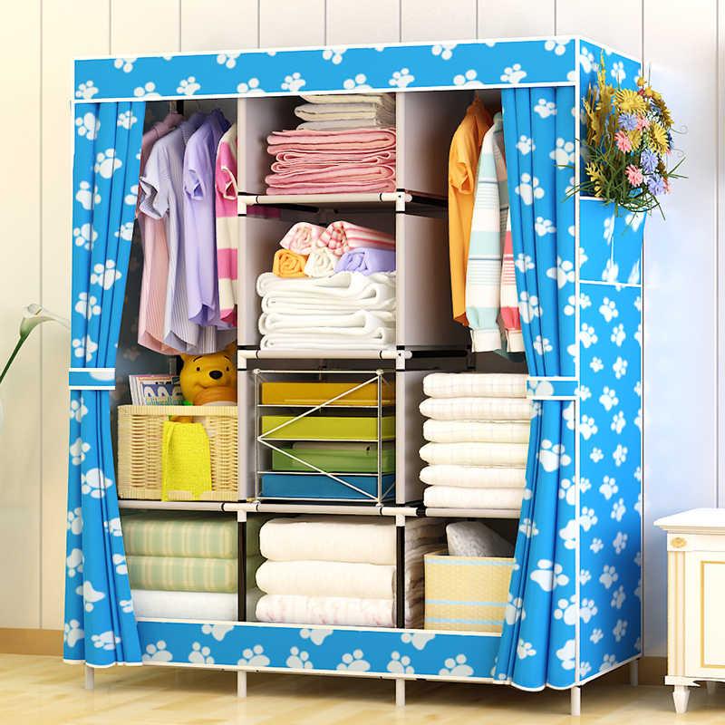 Portable Closet Wardrobe Organizer Clothes Armoire Storage Dresser For Bedroom Ideal Storage Organizer For Toys Towels Books Wardrobes Aliexpress
