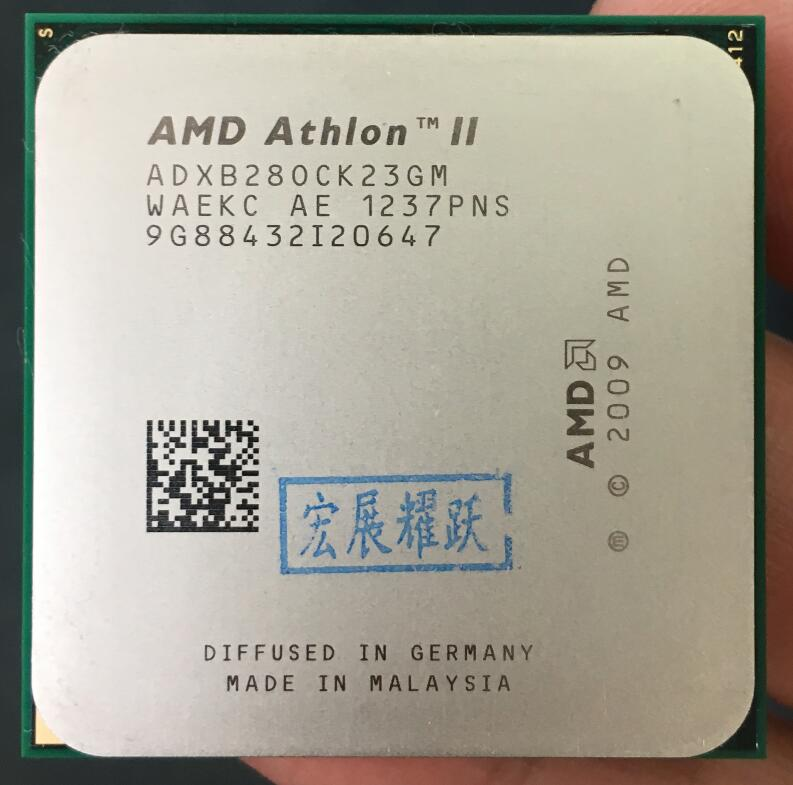 AMD Athlon II X2 B280   XB280 Dual-Core Desktop CPU AM3 938 CPU 100% Working Properly Desktop Processor