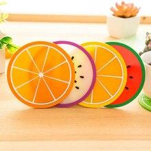 1 Uds. Posavasos colorido para frutas, Mantel Individual para mesa de comedor, Mantel Individual de silicona, posavasos para bebidas, portavasos, posavasos, Salvamanteles