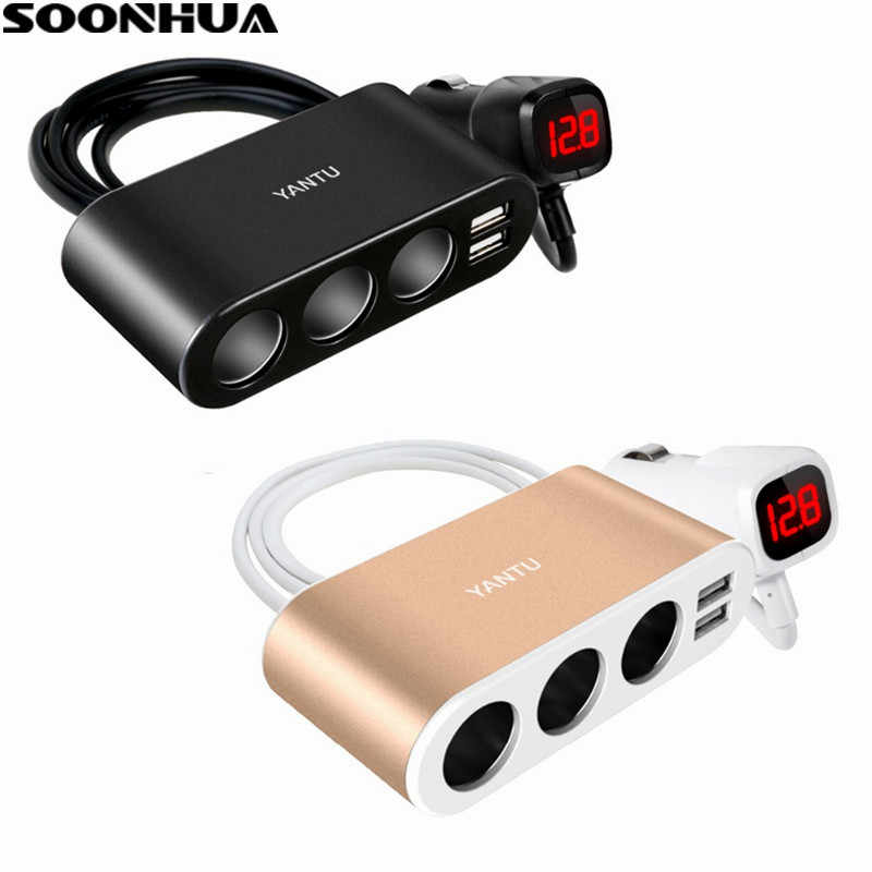 Sturdy Endurable Dual USB Port 5V 3.1A Fast Car Charger 3 Slot Socket Adapter Plug 12V-24V Universal Quick Charging For Phone